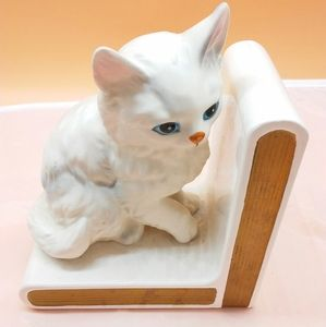 Vintage Lefton Cat Bookend